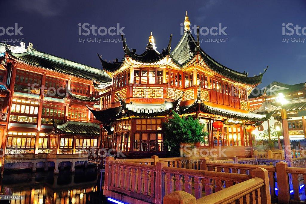 Shanghai pagoda building stock photo