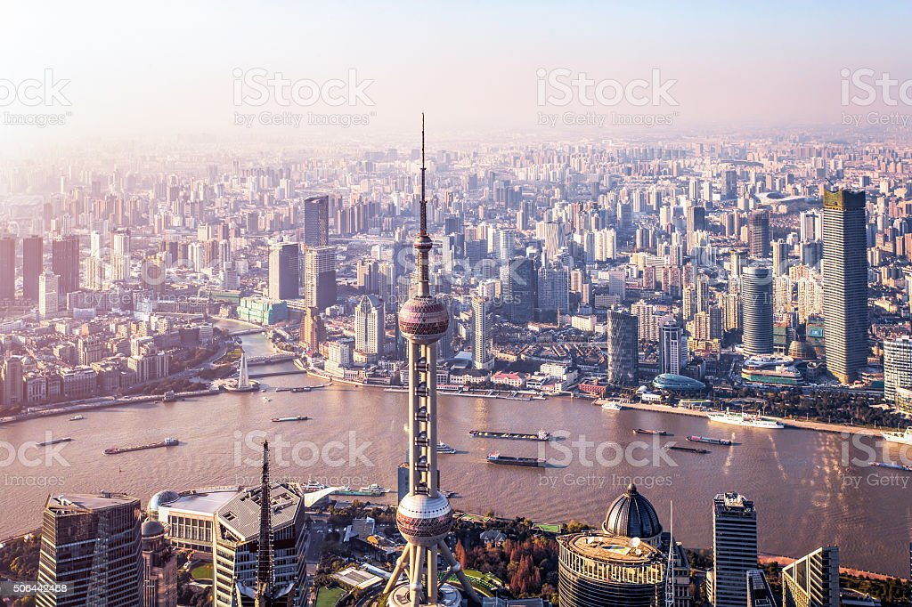 shanghai panorama stock photo