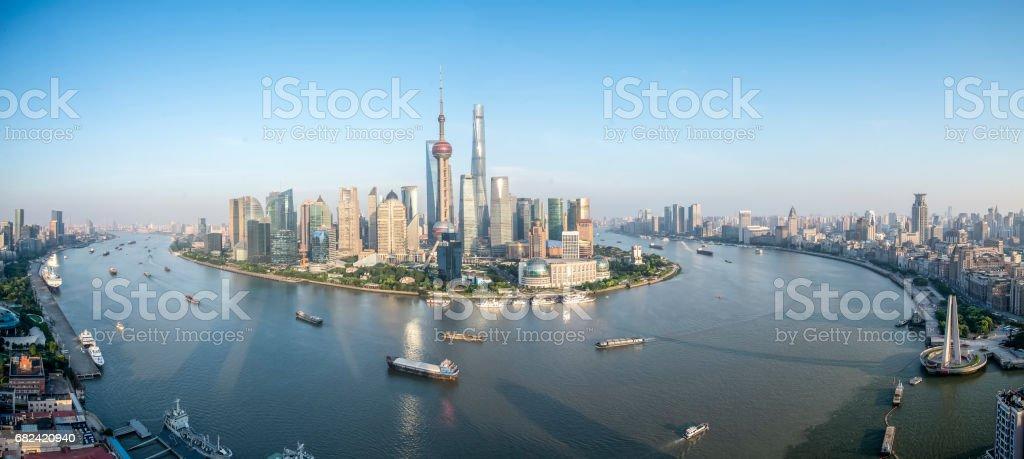 Shanghai Panoramic Skyline royalty-free stock photo