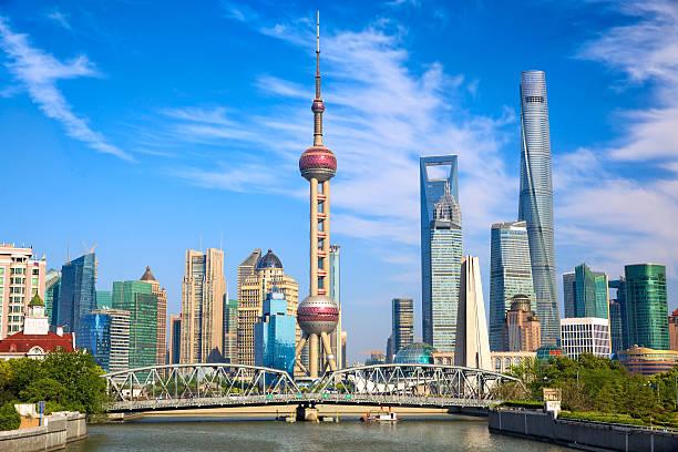 Shanghai Shanghai skyline with historical Waibaidu bridge, China shanghai stock pictures, royalty-free photos & images