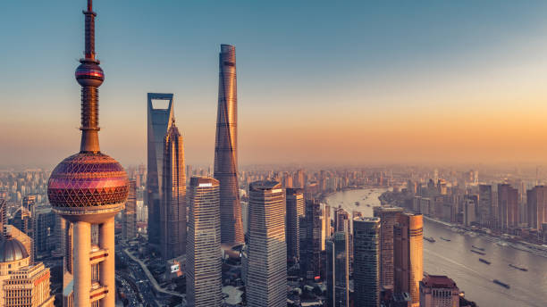 shanghai Aerial photograph shanghai stock pictures, royalty-free photos & images