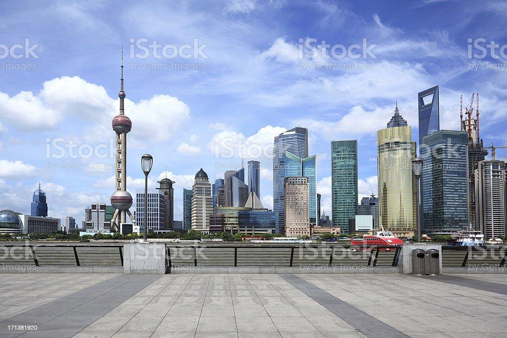 Shanghai Pudong beauty royalty-free stock photo