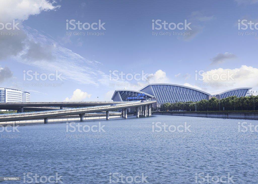 Shanghai pudong international airport stock photo