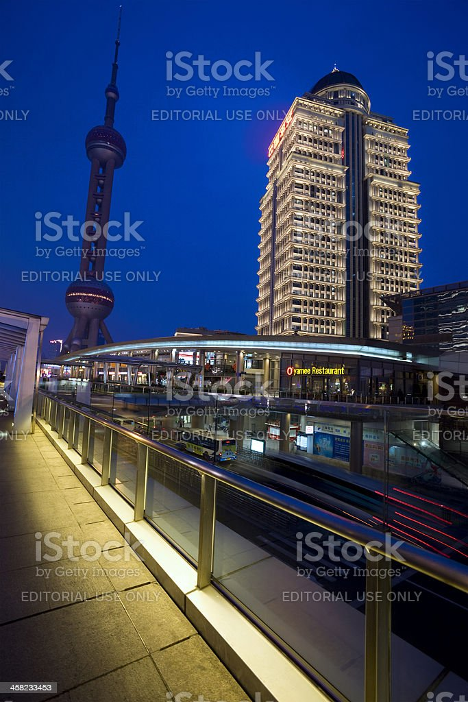 Shanghai Pudong New Area royalty-free stock photo