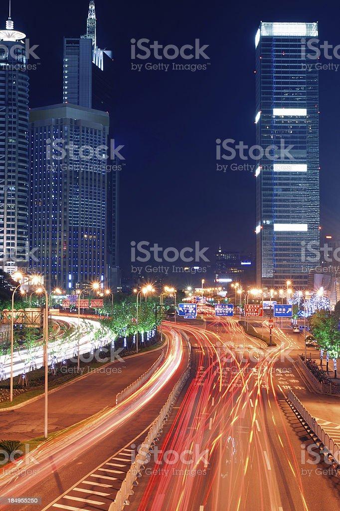 Shanghai Pudong night stock photo