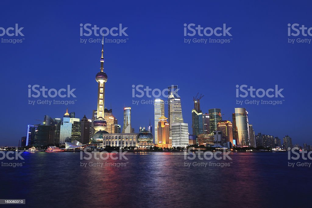 Shanghai Pudong Night view royalty-free stock photo