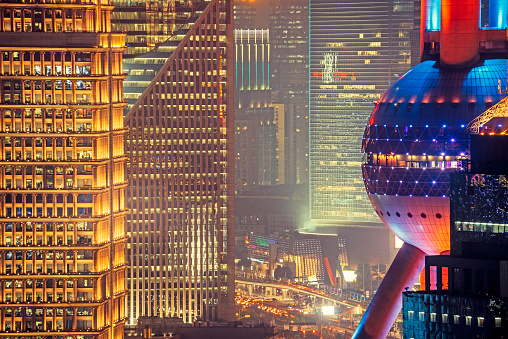 Shanghai Pudong with Oriental Pearl Tower