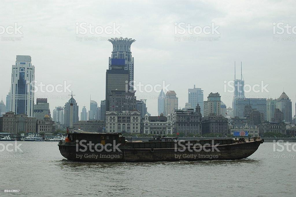Shanghai river royalty-free stock photo