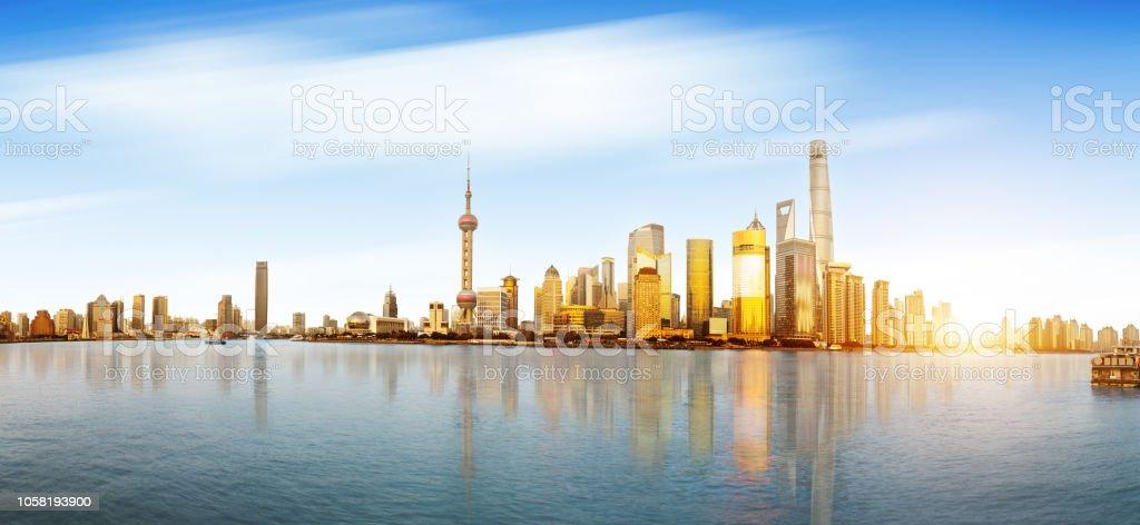 Shanghai skyline and cityscape stock photo