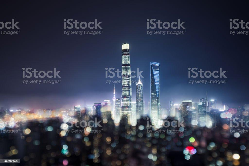 Horizonte de Shanghai por la noche - Foto de stock de Aire libre libre de derechos