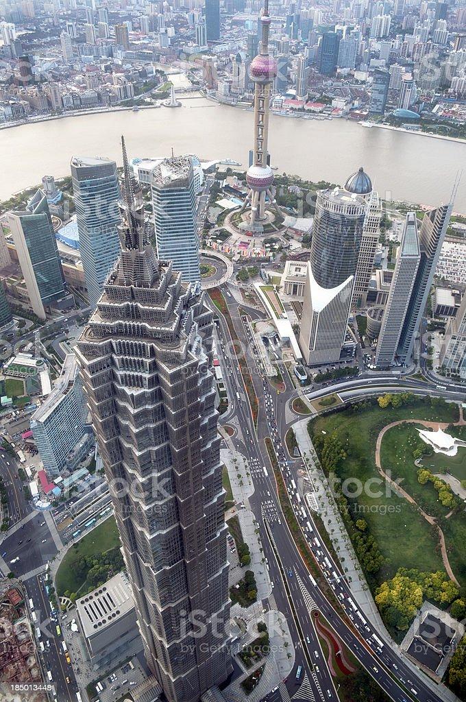 Shanghai Skyline China royalty-free stock photo