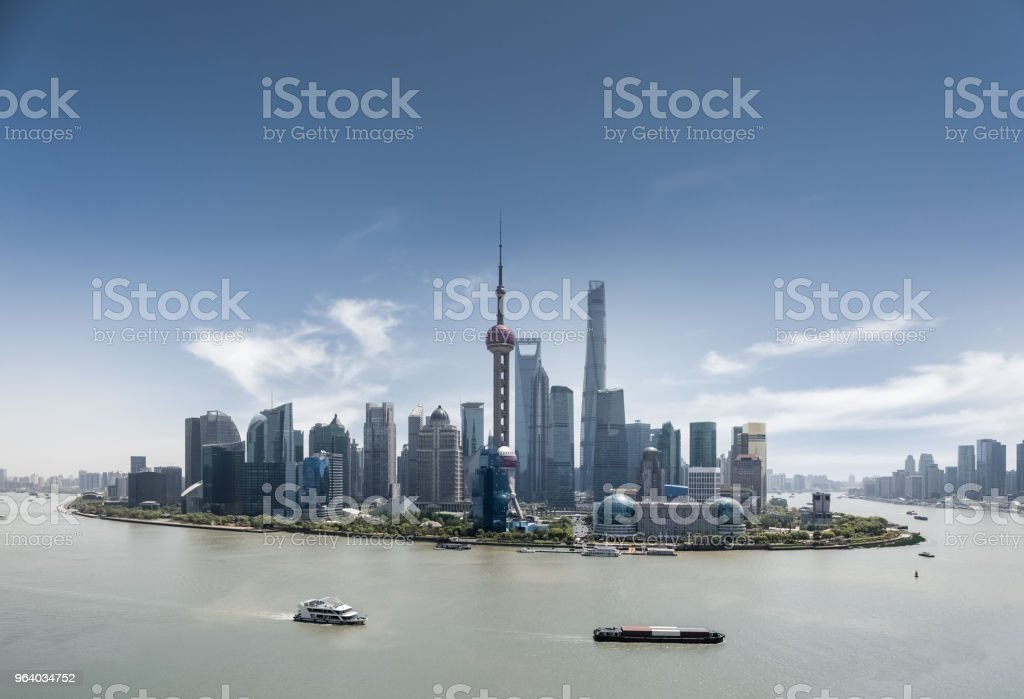 shanghai skyline in daytime - Royalty-free Architecture Stock Photo