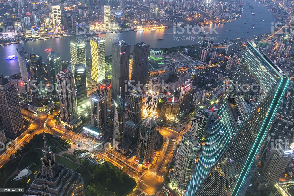 Shanghai skyline latest stock photo