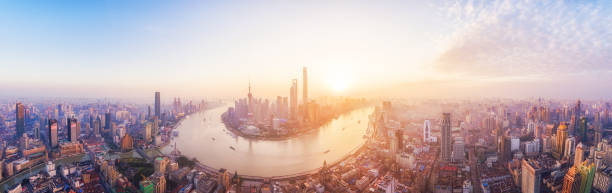 Shanghai Skyline Shanghai Skyline huangpu district stock pictures, royalty-free photos & images