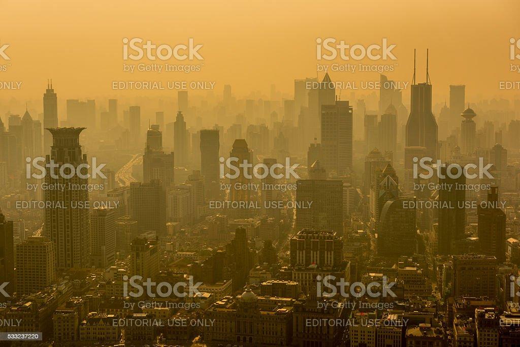 Shanghai Skyline. stock photo