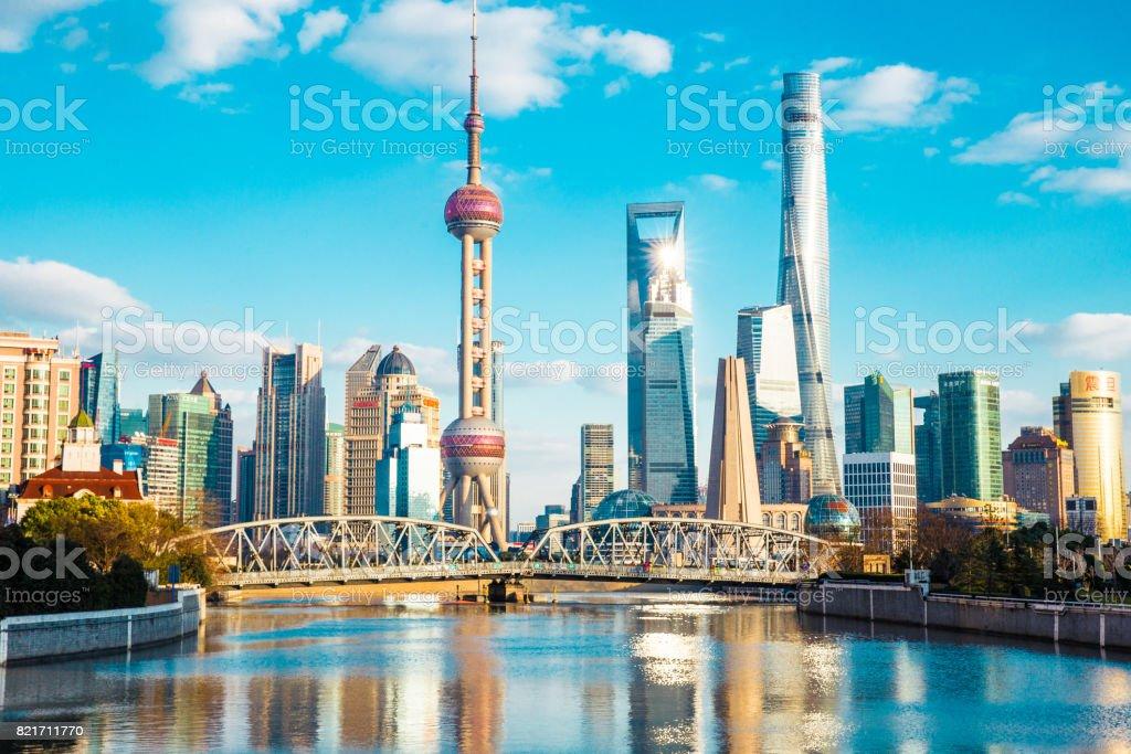 La ville de Shanghai  photo libre de droits