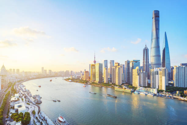 Shanghai Skyline Shanghai Skyline shanghai stock pictures, royalty-free photos & images