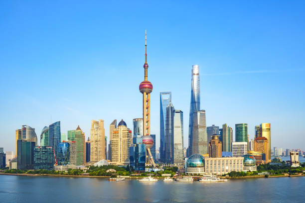 Shanghai Skyline Shanghai Skyline jin mao tower stock pictures, royalty-free photos & images