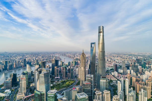 Shanghai Skyline Shanghai Skyline pudong stock pictures, royalty-free photos & images