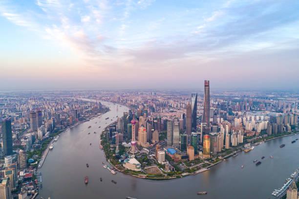 Shanghai Skyline Shanghai Skyline huangpu river stock pictures, royalty-free photos & images