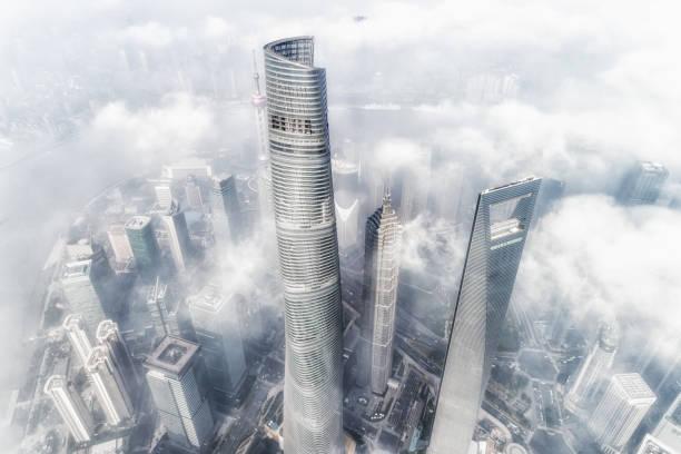 Shanghai Skyline Sonnenuntergang – Foto