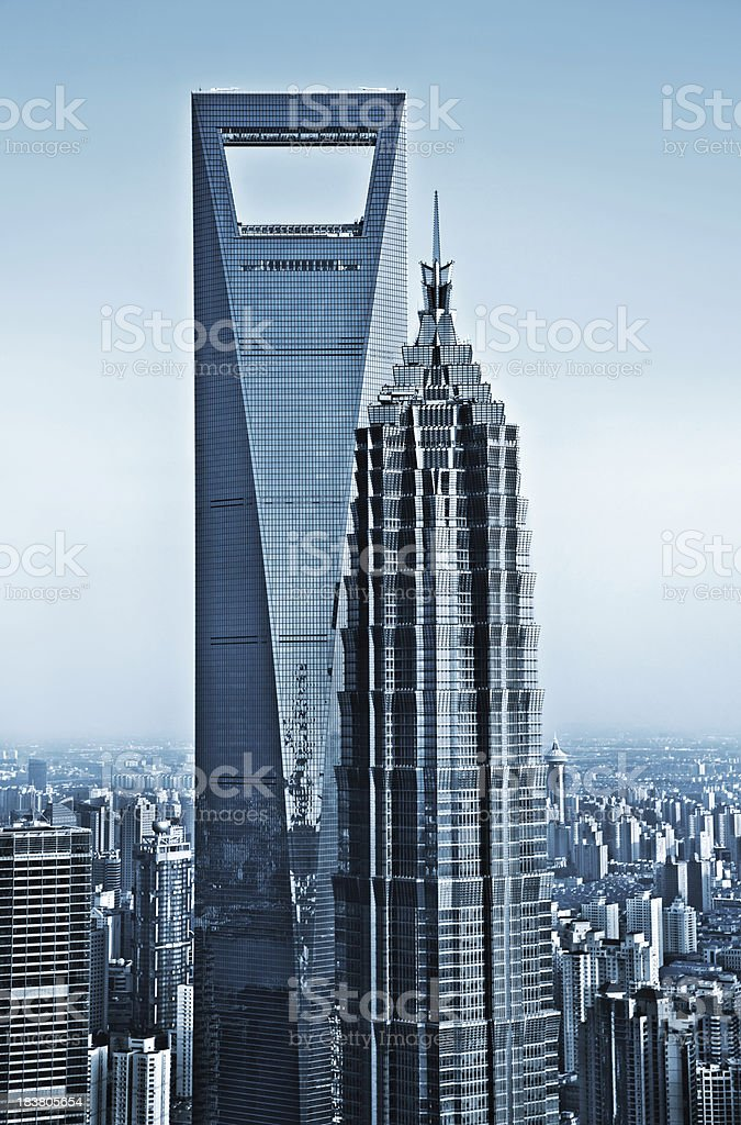 Shanghai Skyscraper stock photo