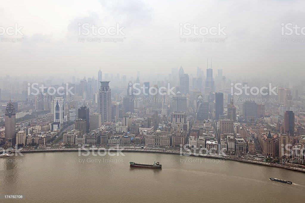 Shanghai smog royalty-free stock photo
