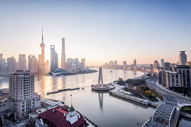 Shanghai sunrise shanghai pudong sunrise shanghai stock pictures, royalty-free photos & images