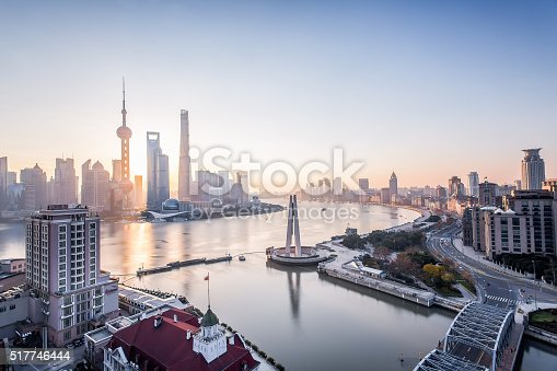 Shanghai Sunrise Stock Photo & More Pictures of Architecture