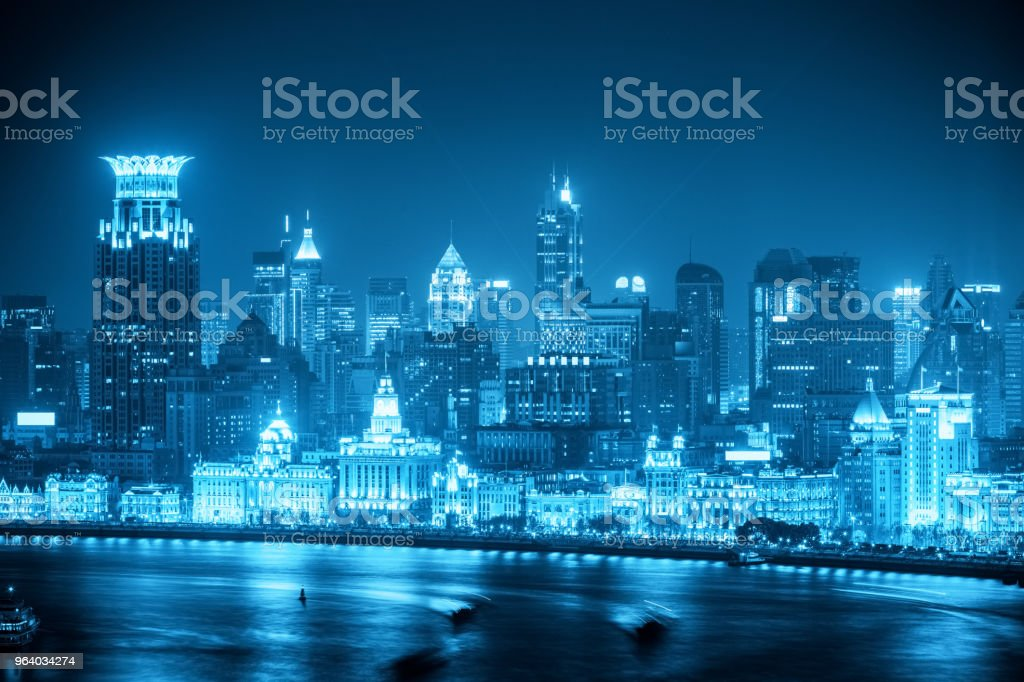 shanghai the bund at night - Royalty-free Asia Stock Photo