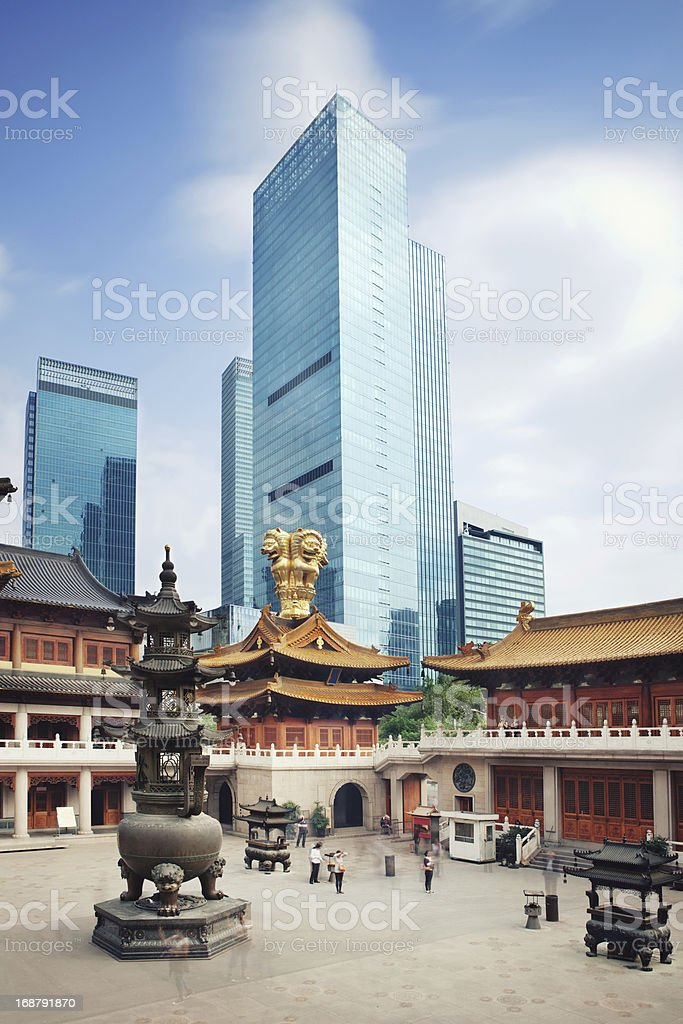 Shanghai traditional and modern stock photo