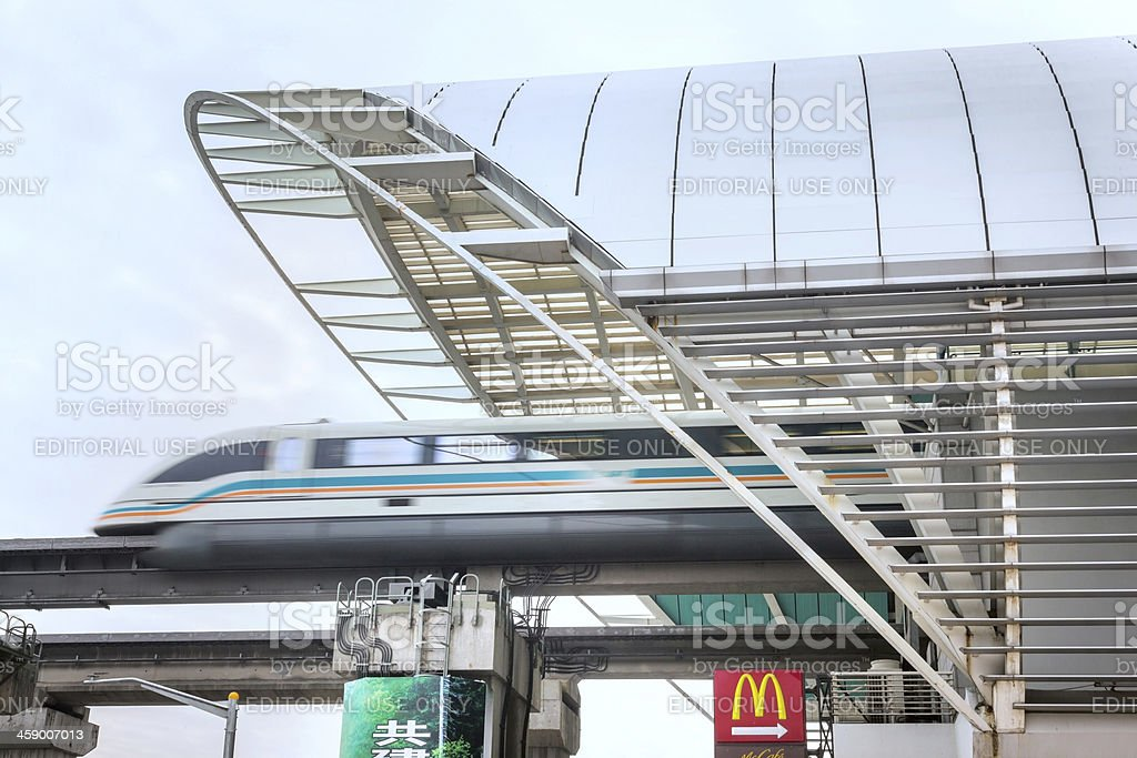 Shanghai Transrapid Maglev stock photo