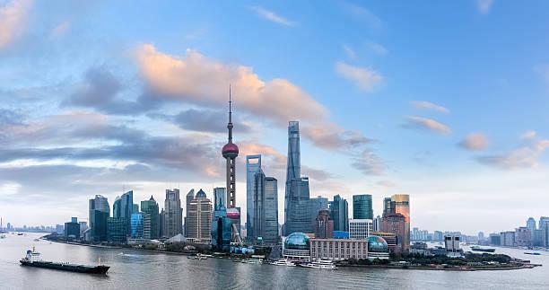 Shanghai in der Abenddämmerung – Foto