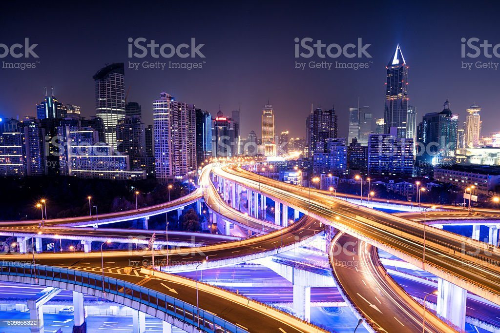 Shanghai Viaduct stock photo