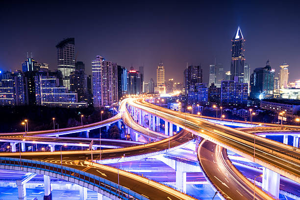 Shanghai Viaduct communicate,city,morden,built structure elevated road stock pictures, royalty-free photos & images