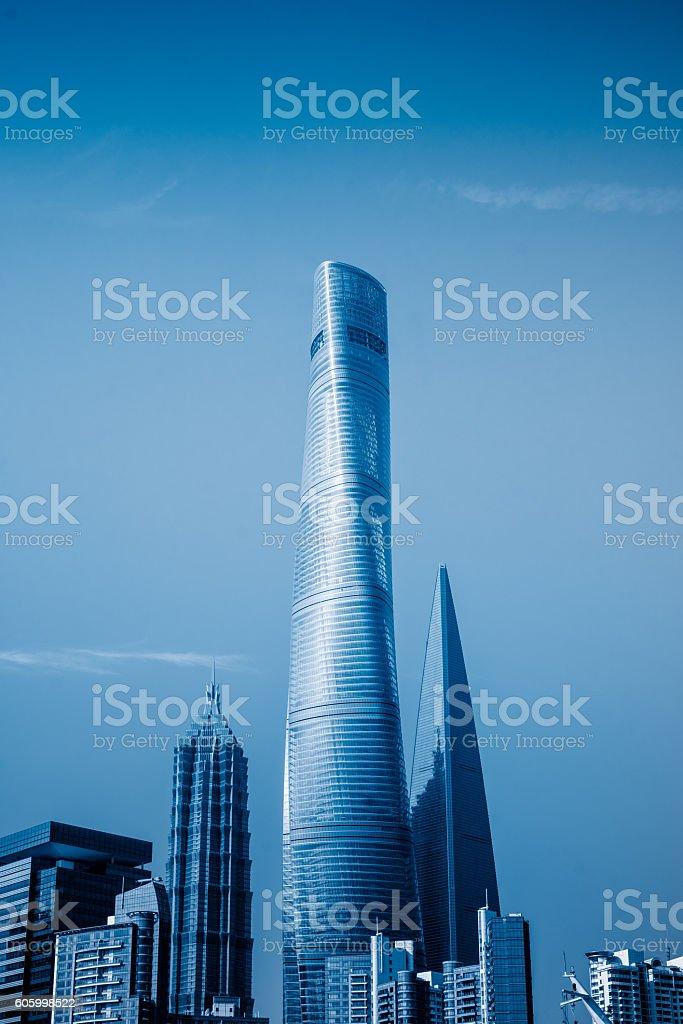 shanghai world financial center,shanghai,china stock photo