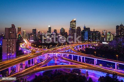 544101220 istock photo shanghai yan an viaduct at night 952608840