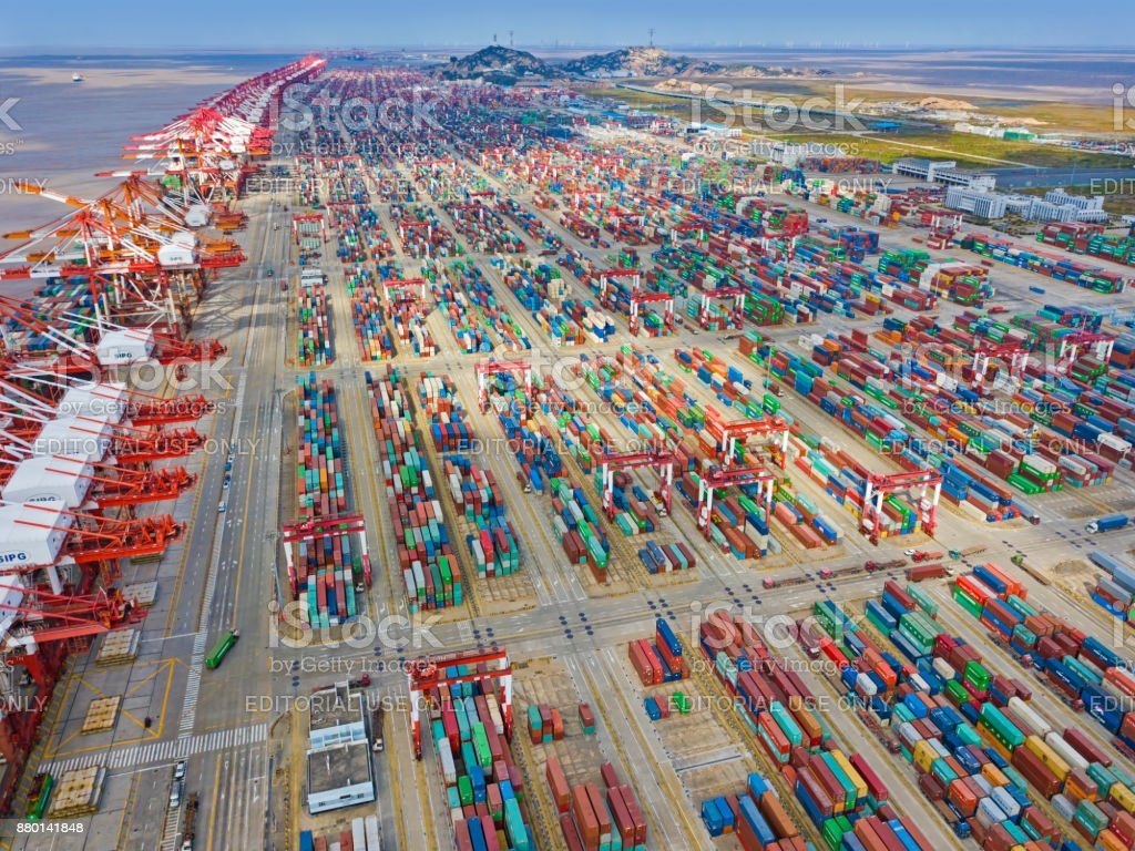 Shanghai Yangshan Deep Water Port stock photo