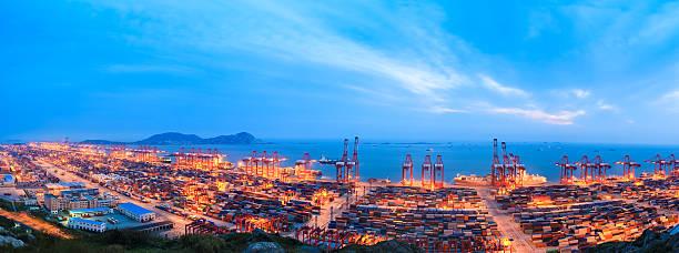 shanghai Tiefwasserhafen yangshan Hafen – Foto