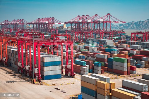 Shanghai Yangshan deepwater port is a deep water port for container ships in Hangzhou Bay south of Shanghai, China.