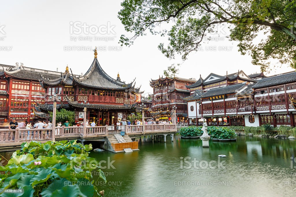 Shanghai yuyuan garden traditional Building scenery,in  China stock photo