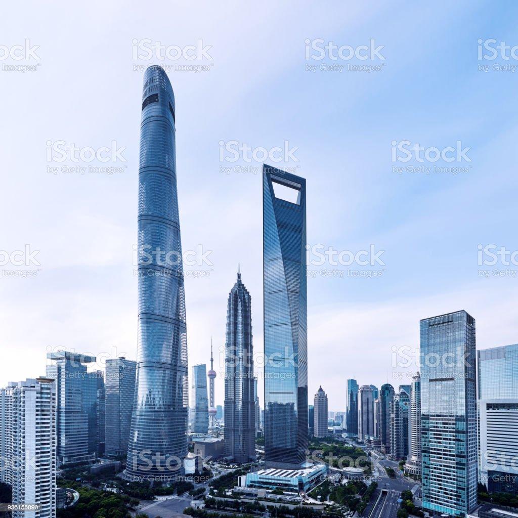 Shanghai's Lujiazui Financial District, China stock photo