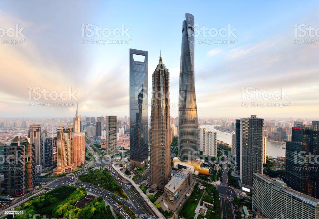 Shanghai's Lujiazui Landmark Skyscraper stock photo