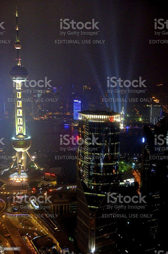 Shanghai's Night Lights stock photo