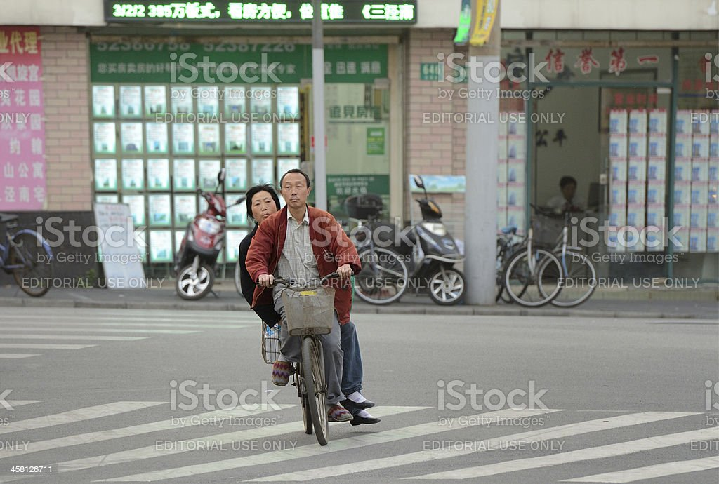 Shanghai's two wheels traffic royalty-free stock photo
