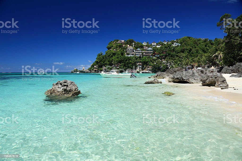 Shangri La resort stock photo