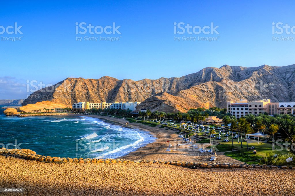 Shangri-la Muscat stock photo