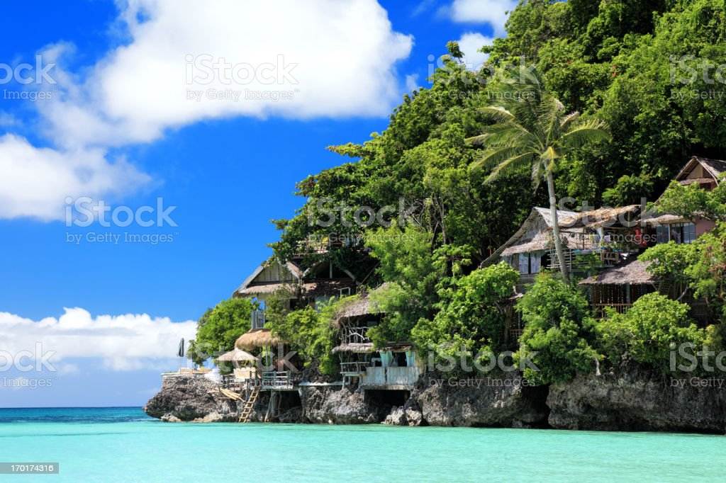 Shangri La resort stock photo