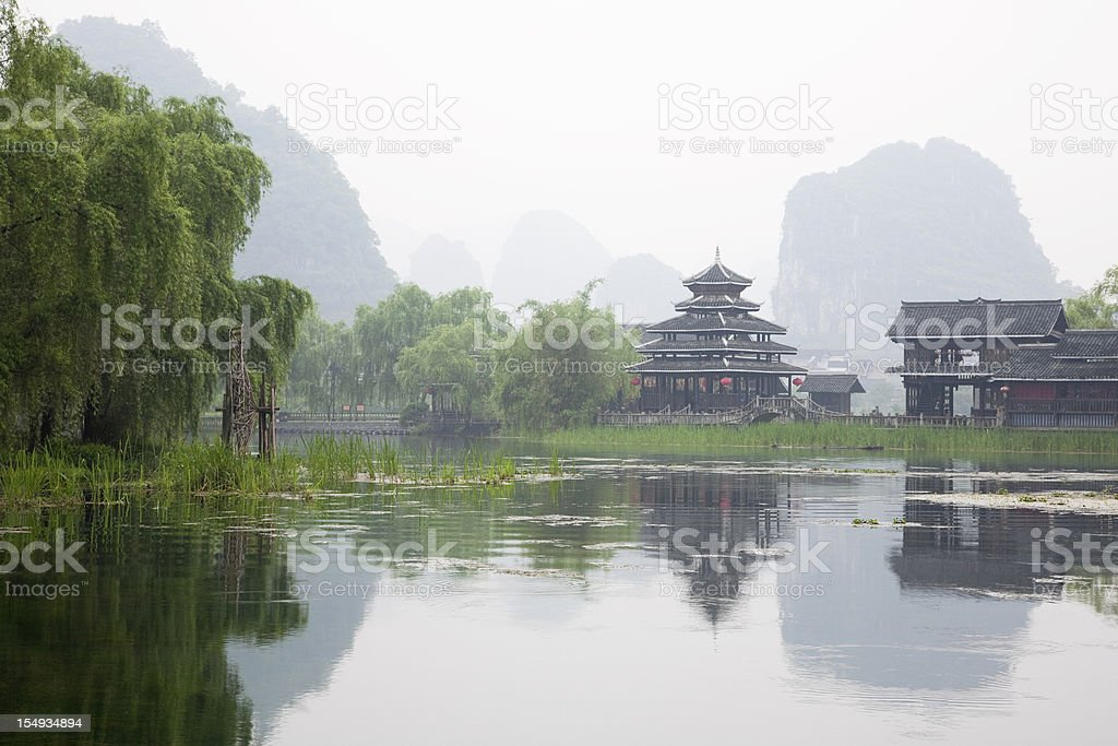 Shangrila of Yangshuo royalty-free stock photo