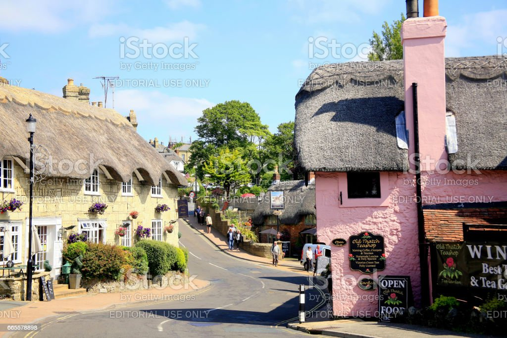 Shanklin, Isle of Wight. stock photo